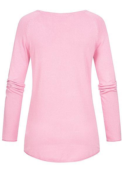 Seventyseven Lifestyle Damen Soft Touch Pullover rosa