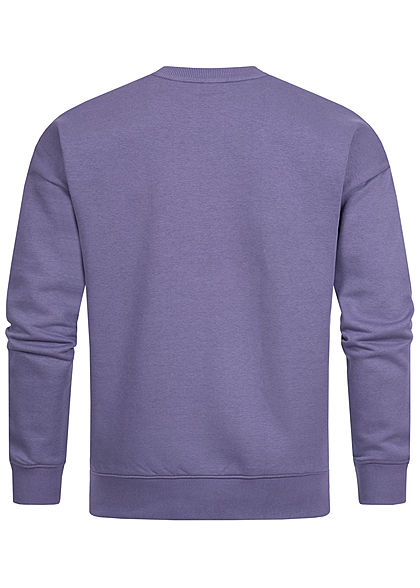 Stitch & Soul Herren Colorblock Sweater viola lila mint grün weiss