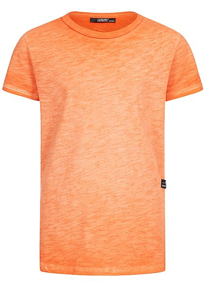 Hailys Kids Jungen Melange T-Shirt orange - Art.-Nr.: 19104342