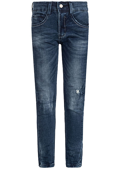 Hailys Kids Jungen Jeans 5-Pockets Destroy Look dunkel blau denim