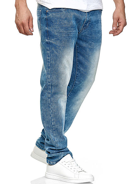 Southpole Herren Basic Skinny Fit Stretch Jeans Hose 5-Pockets sand blau denim