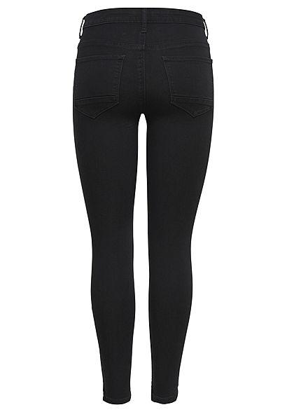 ONLY Damen NOOS Ankle Skinny Jeans Hose 5-Pockets Regular Waist schwarz denim