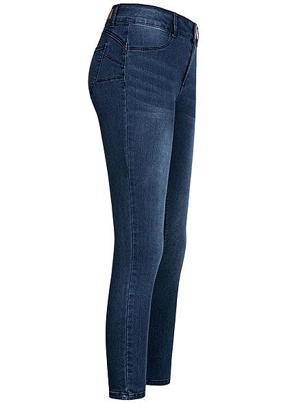 Hailys Damen High-Waist Pushup Skinny Jeans 5-Pockets duel blau denim