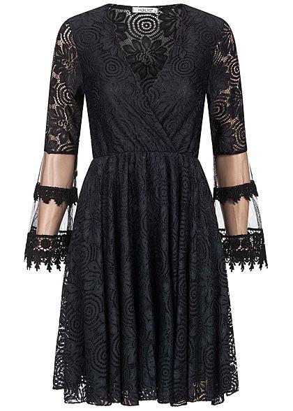 Hailys Damen V-Neck Mini Kleid Allover Spitze & Mesh ...