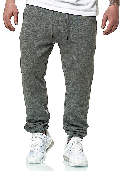 Hailys Herren Jogging Hose 3-Pockets medium grau - Art.-Nr.: 20020594