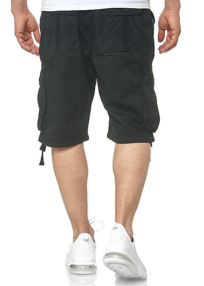 Southpole Heren Cargo Jogger Shorts 6-Pockets zwart