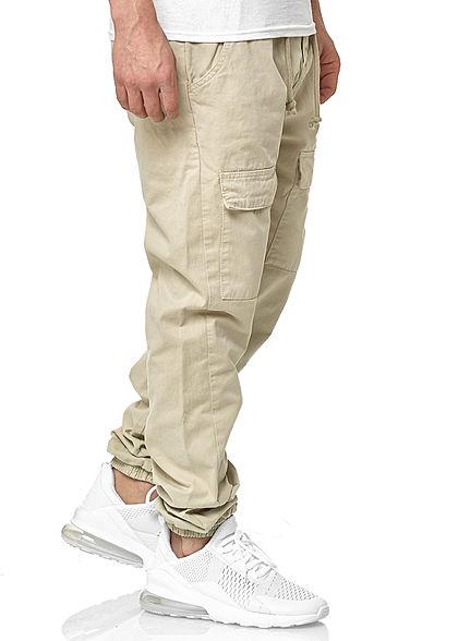 Urban Classics Heren Cargo Jogging Broek 6-Pockets concrete beige