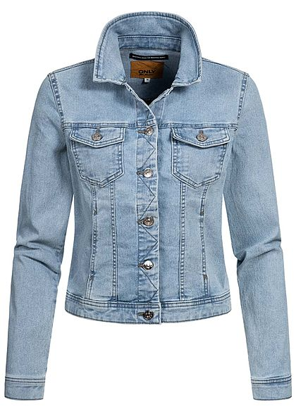 ONLY Damen Jeans Jacke 4-Pockets Knopfleiste hell blau denim - Art.-Nr.: 20031400