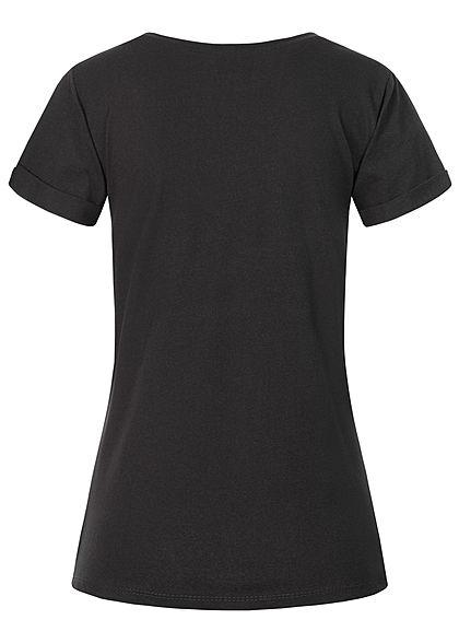 Fresh Tee Dames T-Shirt Print zwart