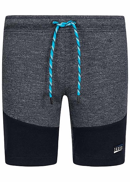 Jack and Jones Junior Melange Sweat Shorts 2-Pockets Tunnelzug sky captain blau