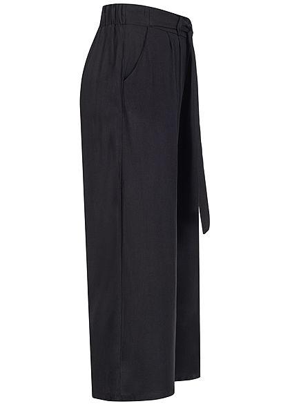 Hailys Damen 3/4 Sommerhose 2-Pockets Bindedetail vorne schwarz