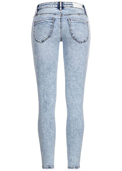 Vero Moda Damen Skinny Jeans Hose 5-Pockets Low Waist hell blau denim