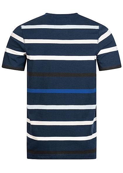 ONLY & SONS Herren T-Shirt Kontrast Streifen Muster dresses dunkel blau