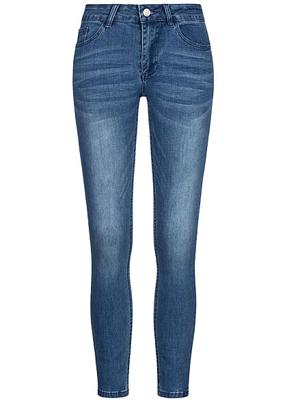 Zabaione Damen Skinny Jeans 5-Pockets High-Waist hell blau denim - Art.-Nr.: 20073758