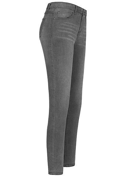 Hailys Damen Skinny Jeans Hose 5-Pockets grau denim