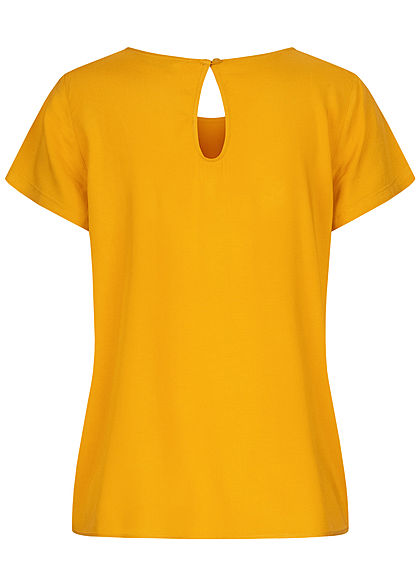 ONLY Damen NOOS Solid Blusen Shirt golden gelb