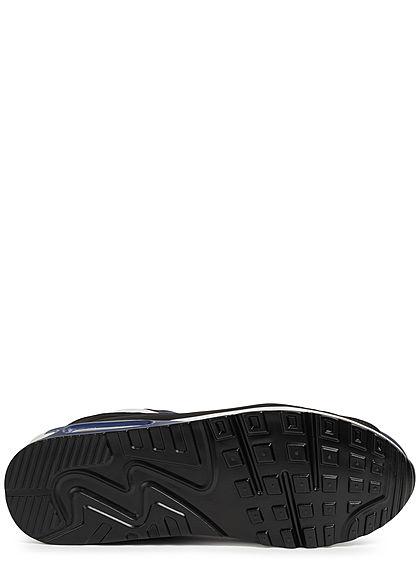 Seventyseven Lifestyle Herren Schuh Colorblock Kunstleder Sneaker navy blau grau schwarz