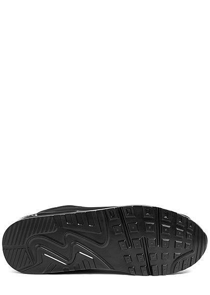 Seventyseven Lifestyle Herren Schuh Colorblock Kunstleder Sneaker schwarz