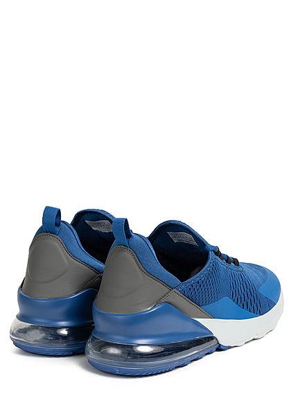 Seventyseven Lifestyle Herren Schuh Colorblock Sneaker zum Schnüren navy blau grau weiss