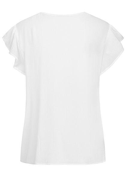 ONLY Damen Oversized Krepp Blusen Shirt mit Häkeldetail cloud dancer weiss