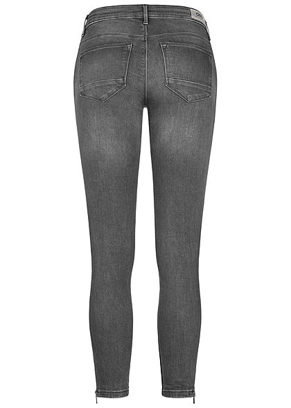 ONLY Damen NOOS Ankle Jeans Hose 5-Pockets Zipper medium grau denim