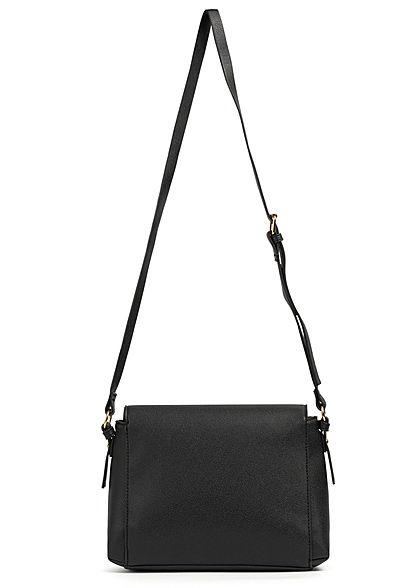 Hailys Damen Midi Kunstleder Handtasche 20x26cm 2-Pocket Style schwarz