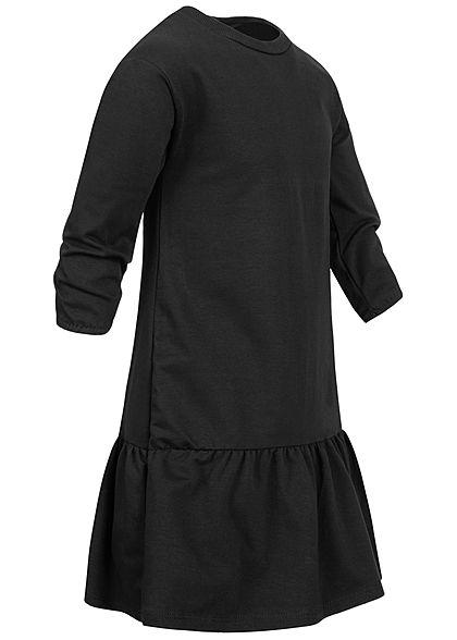 Hailys Kids Mädchen Langarm Puffer Kleid weiter Rock schwarz