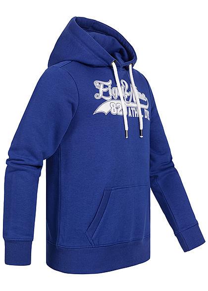 Eight2Nine Herren Sweat Hoodie Kapuze Kängurutasche Logo Frontprint cornflower blau