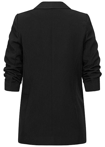 ONLY Dames NOOS 3/4 Lange effen blazer zwart