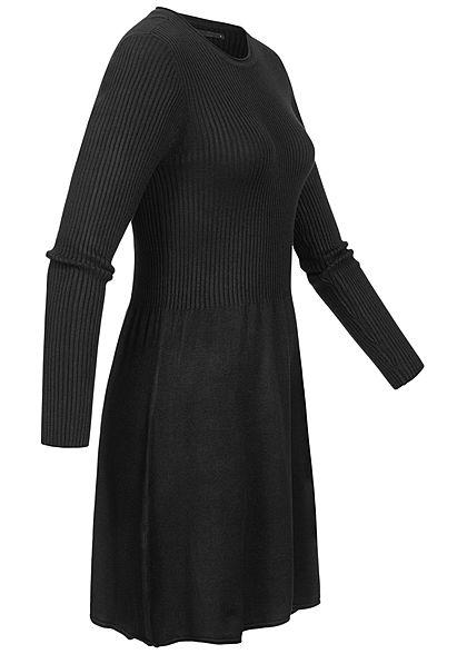 ONLY Damen NOOS Mini Ribbed Strickkleid schwarz