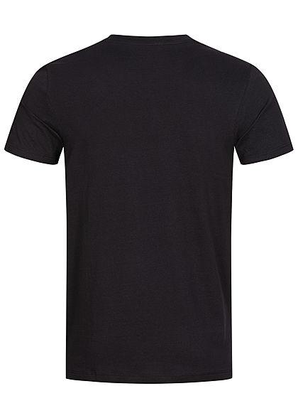 Jack and Jones Herren T-Shirt Logo Camouflage Print schwarz