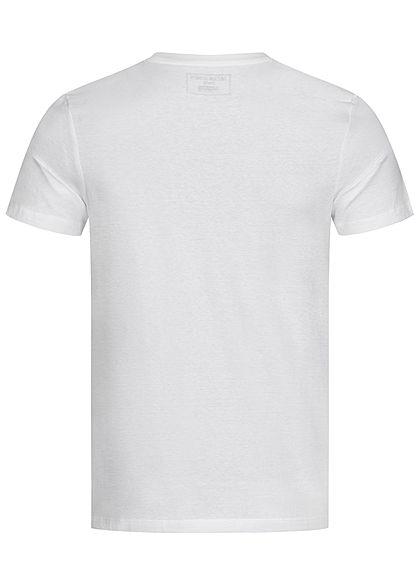 Jack and Jones Herren T-Shirt Logo Camouflage Print weiss