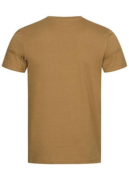 Jack and Jones Herren T-Shirt Logo Camouflage Print kangaroo braun