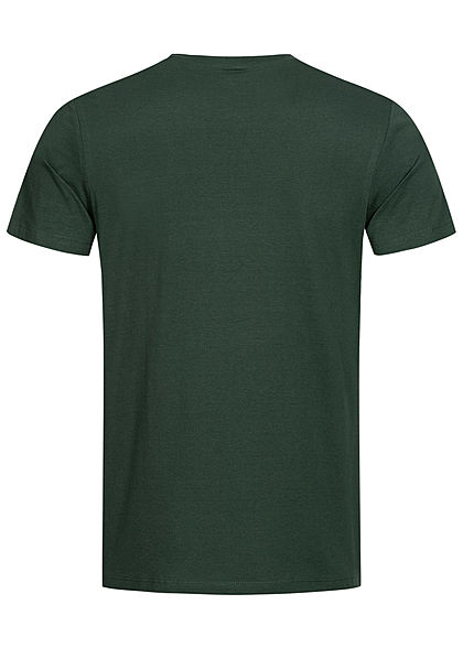 Jack and Jones Herren T-Shirt Logo Camouflage Print darkest spruce dunkel grün