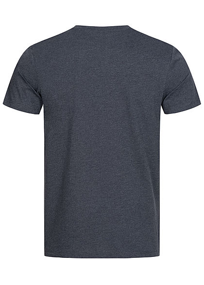 Jack and Jones Herren T-Shirt Logo Camouflage Print sky captain blau