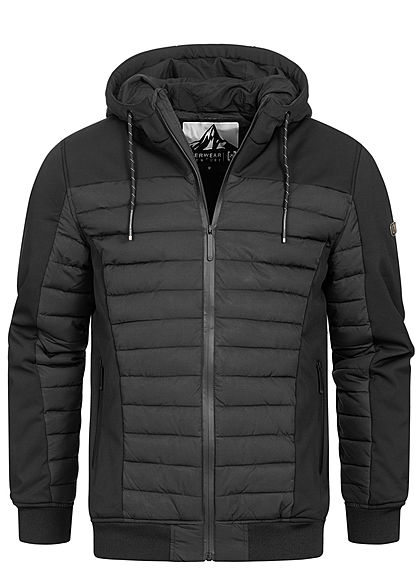Hailys Herren Winter Steppjacke Kapuze Tunnelzug 2-Pockets schwarz - Art.-Nr.: 20104663