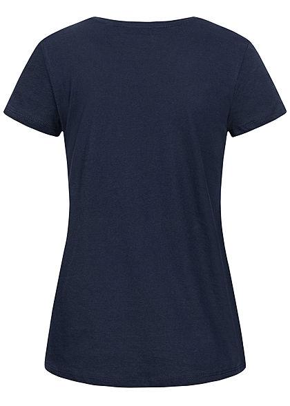 Tom Tailor Damen T-Shirt Anker Print real navy blau