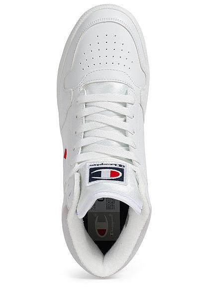 Champion Herren Schuh Mid Cut Schuh Sneaker mit Logo Patch seitlich weiss