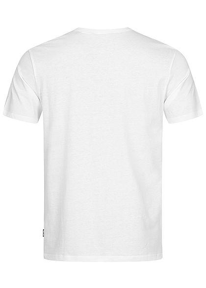 ONLY & SONS Herren T-Shirt Oltre IL Frontprint Slim Fit cloud dancer weiss schwarz