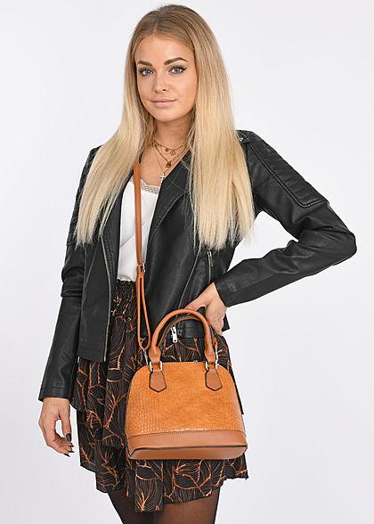 Styleboom Fashion Dames Mini Rok Print zwart bruin