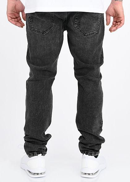 ONLY & SONS Herren Slim Fit Jeans Hose 5-Pockets Destroy Optik washed schwarz denim