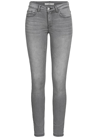 JDY by ONLY Damen NOOS Skinny Jeans Hose 5-Pockets Regular Waist hell grau denim - Art.-Nr.: 20110229