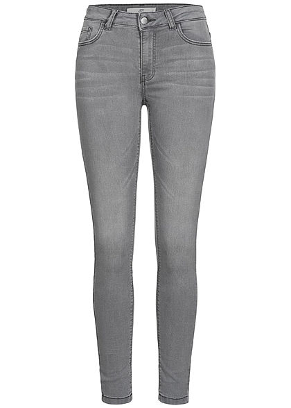 JDY by ONLY Damen NOOS Skinny Jeans Hose 5-Pockets High- Waist hell grau denim - Art.-Nr.: 20110230