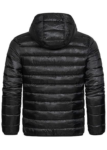 Champion Herren Winter Nylon Steppjacke Kapuze 2-Pockets schwarz