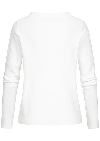 Tom Tailor Damen Basic Stehkragen Pullover atmungsaktiv whisper weiss
