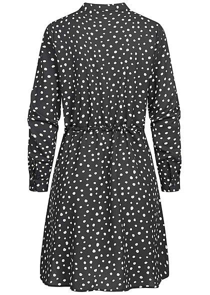ONLY Damen NOOS V-Neck Krepp Tunika Kleid Taillenzug ...