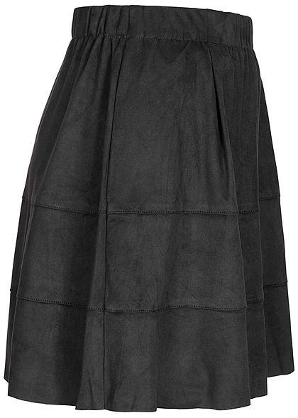 Noisy May Dames NOOS Mini Imitatieleren Rok 2-Pockets zwart