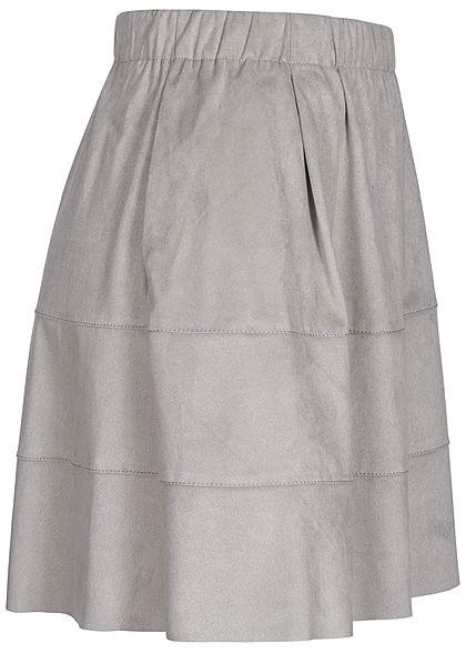 Noisy May Dames NOOS Mini Imitatieleren Rok 2-Pockets ash grijs
