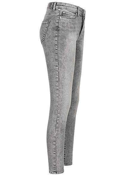 ONLY Dames NOOS Mid Skinny Jeans 5-Pocket medium grijs denim