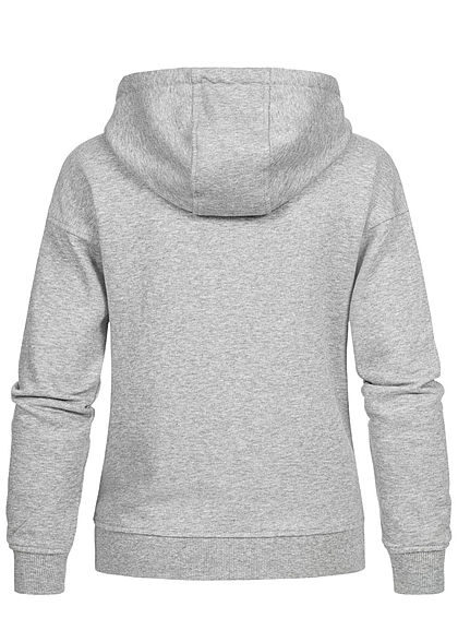 Urban Classics Damen Zip Hoodie Sweat Jacke Kapuze 2-Pockets grau